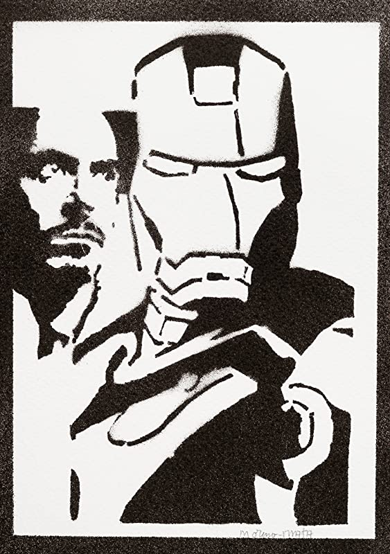 Moderne Poster Iron Man Affiche The Avengers Handmade Graffiti Street Art SY-74