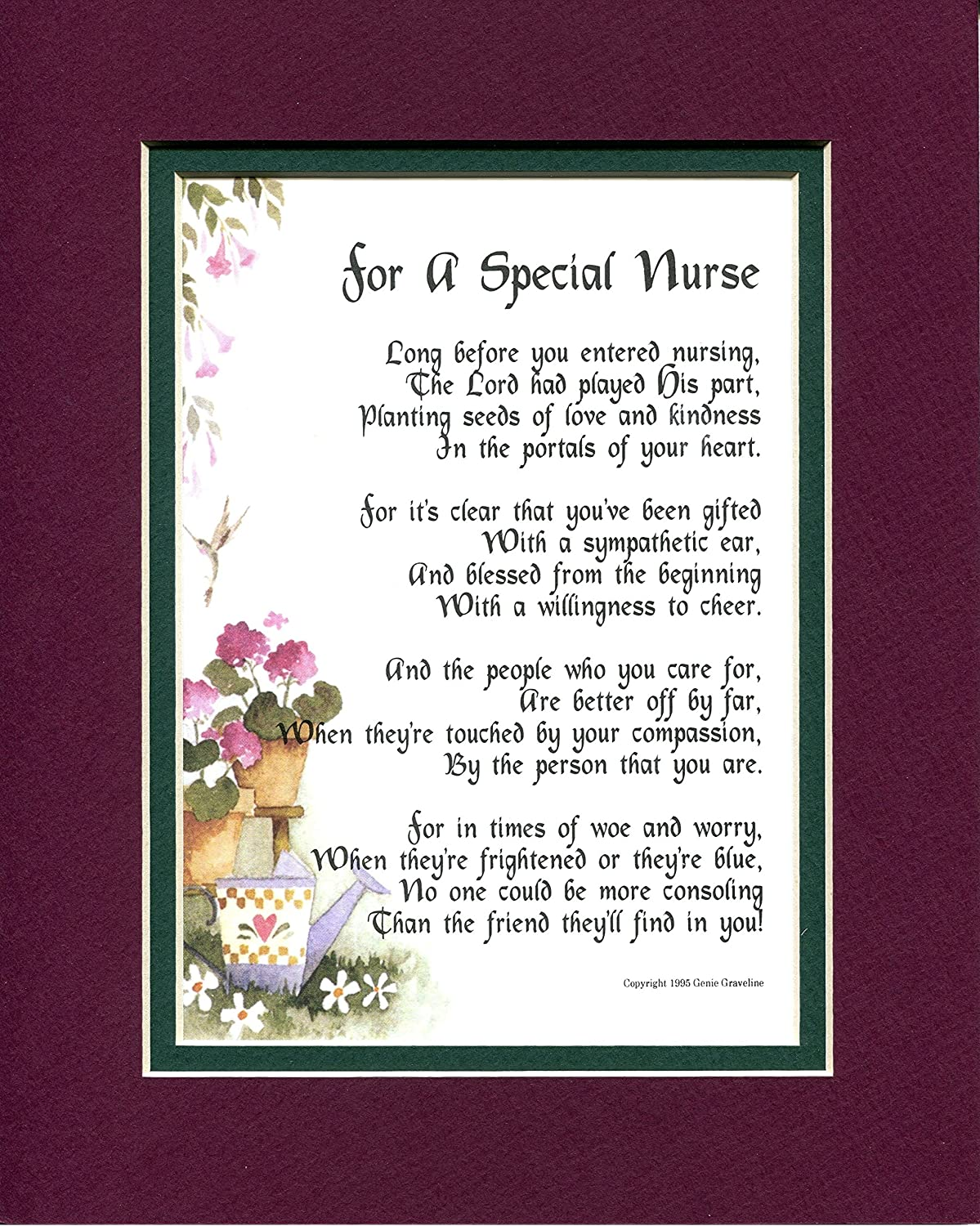 Amazon A Gift Present Poem For Special Nurse 166 Graduation From Nursing School Home Kitchen