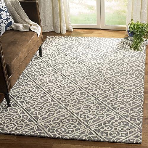 Best living room rug: Safavieh Cambridge Collection CAM731D Handmade Trellis Premium Wool Area Rug