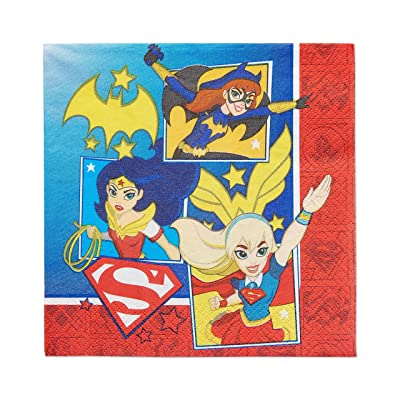 American Greetings DC Super Hero Girls Lunch Napkins (16 Count): Toys & Games