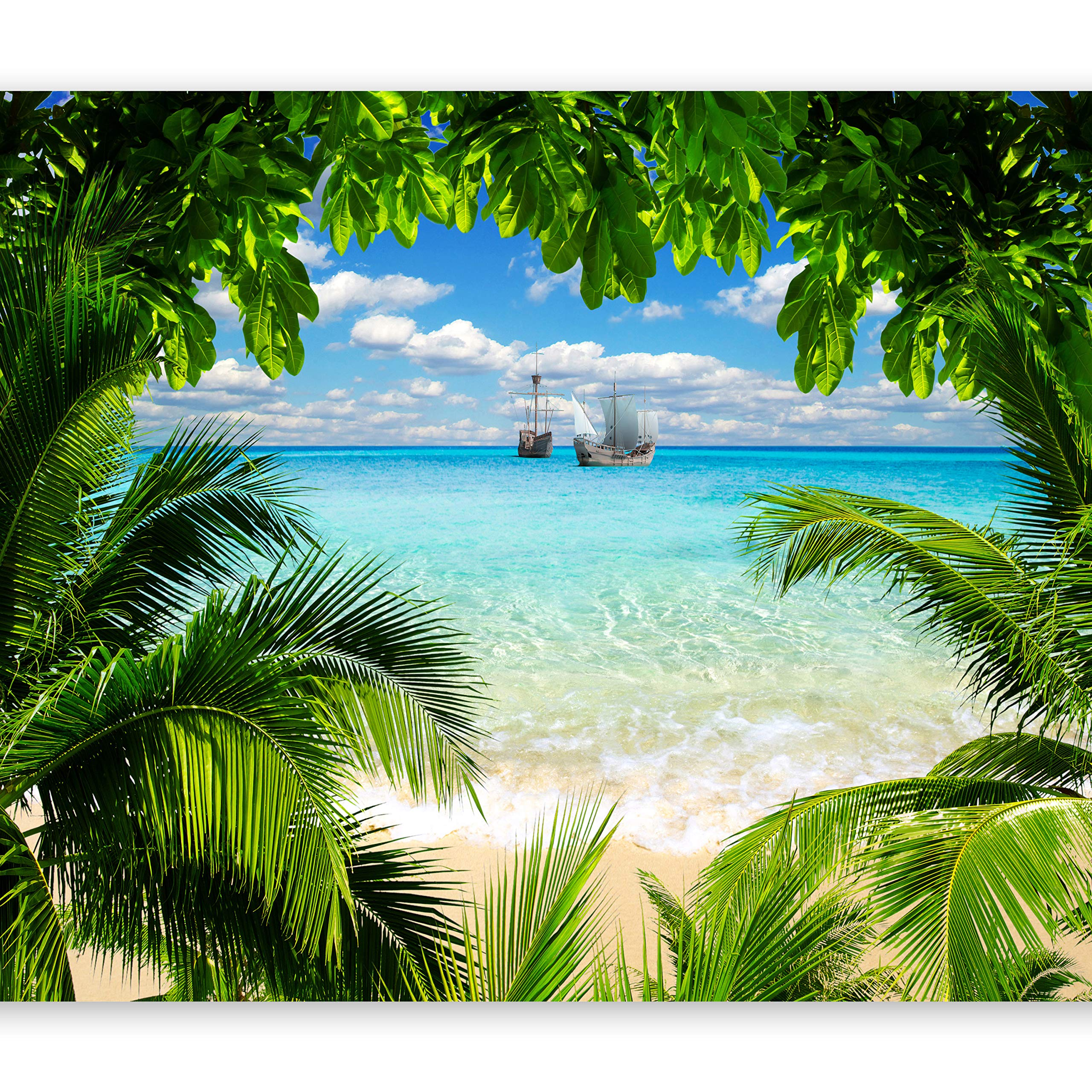artgeist Photo Wallpape Beach Sea 135''x101'' XXL Peel and Stick Self-Adhesive Foil Wall Mural Removable Sticker Premium Print Picture Image Design Home Decor c-A-0047-a-a