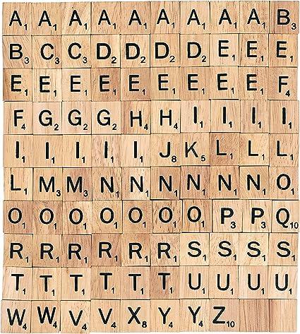 Bag Of 100 Scrabble Tiles All LETTER L