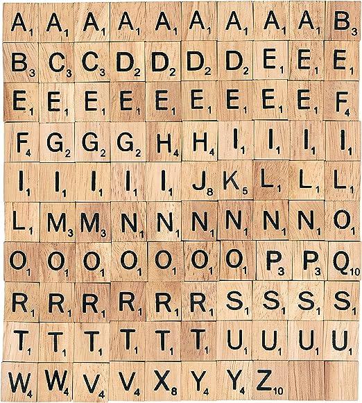 Rainbow 7 Creations Lote de fichas de Letras, 100 Unidades, para bisutería: Amazon.es: Hogar