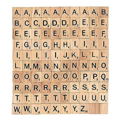 amazon com bsiri wooden scrabble tiles complete set 100 letter a z