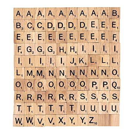 wooden scrabble tiles choose your letters x 100 craft word art