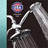 """AquaDance 7"""" Premium High Pressure 3-way Rainfall Shower Combo Combines the Best of Both Worlds - Enjoy Luxurious Rain Showerhead and 6-setting Hand Held Shower Separately or Together!"""