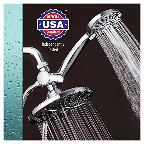 shower head and rain shower combo. AquaDance 7 quot  Premium High Pressure 3 way Rainfall Shower Combo Combines the Best of
