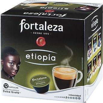 Café Fortaleza Cápsulas De Café Etiopia Compatibles Con Dolce Gusto Amazon Es Alimentación Y Bebidas