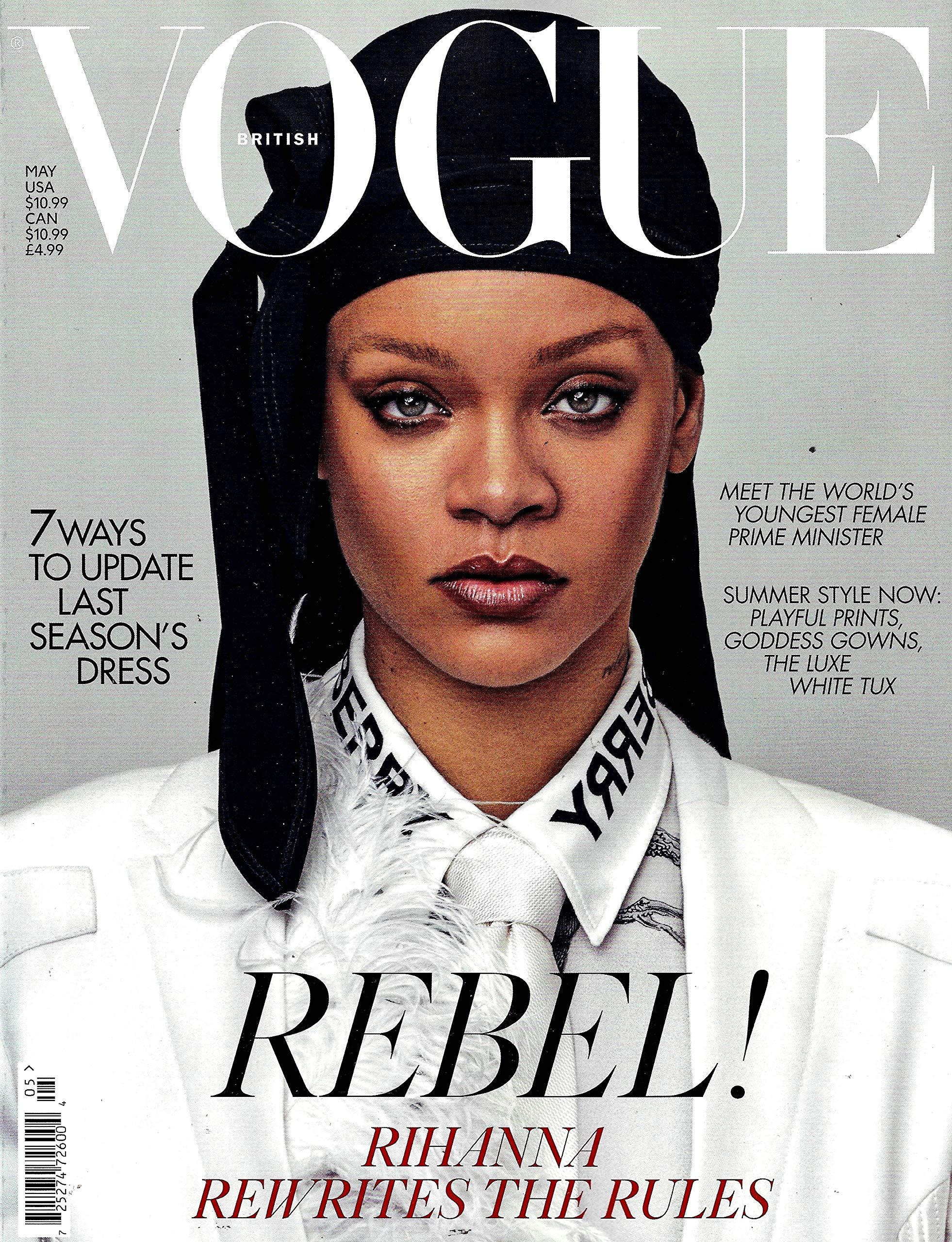 Vogue UK Magazine May, 12 Rihanna Cover BRITISH VOGUE UK ...