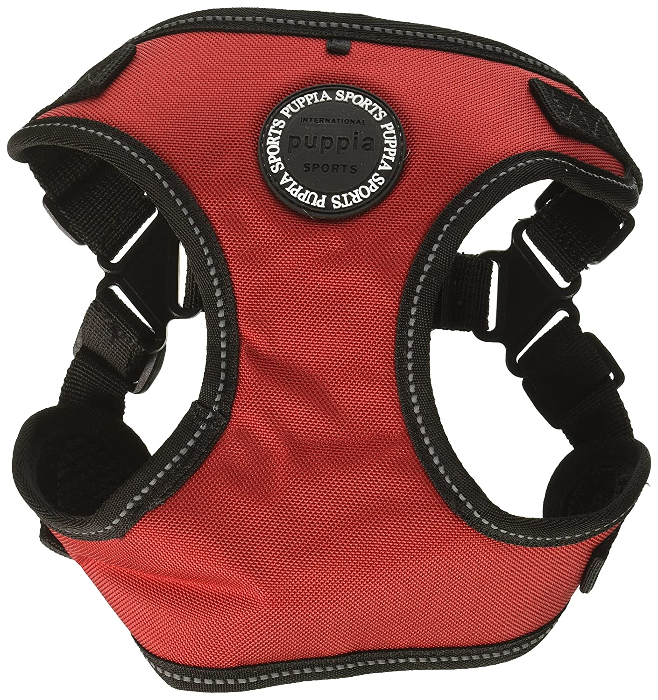 Puppia PLRA-HC9323-RD-L Red Trek Harness C Pet-Vest-Harnesses, Large