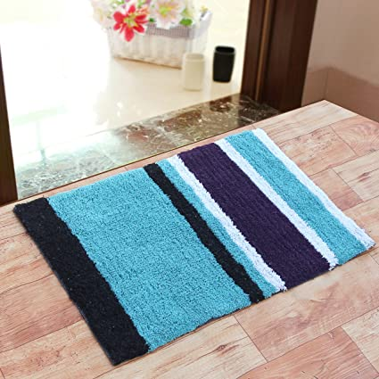 VK Fab Premium Cotton Anti Skid Bath Mat, 1750 GSM, (Multicolor)