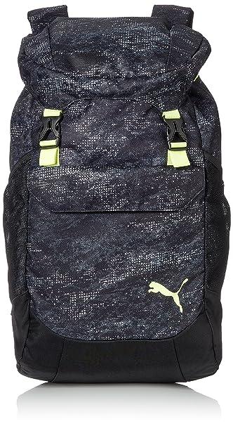 a96009fdb0d1b Puma Black-Fizzy Yellow-Graphic Rucksack (7445705)  Amazon.in  Bags ...