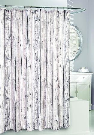 Amazon Moda At Home 204338 Oakwood Fabric Shower Curtain 71 Inches X Kitchen