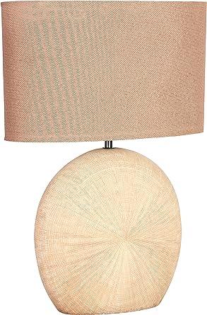 WOFI Lámpara de Mesa E27, 60 W, marrón, 37 x 28 x 53 cm: Amazon.es ...
