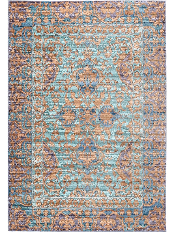 Benuta Teppich Visconti Türkis 120x180 cm   Moderner Teppich für Wohn- und Schlafzimmer
