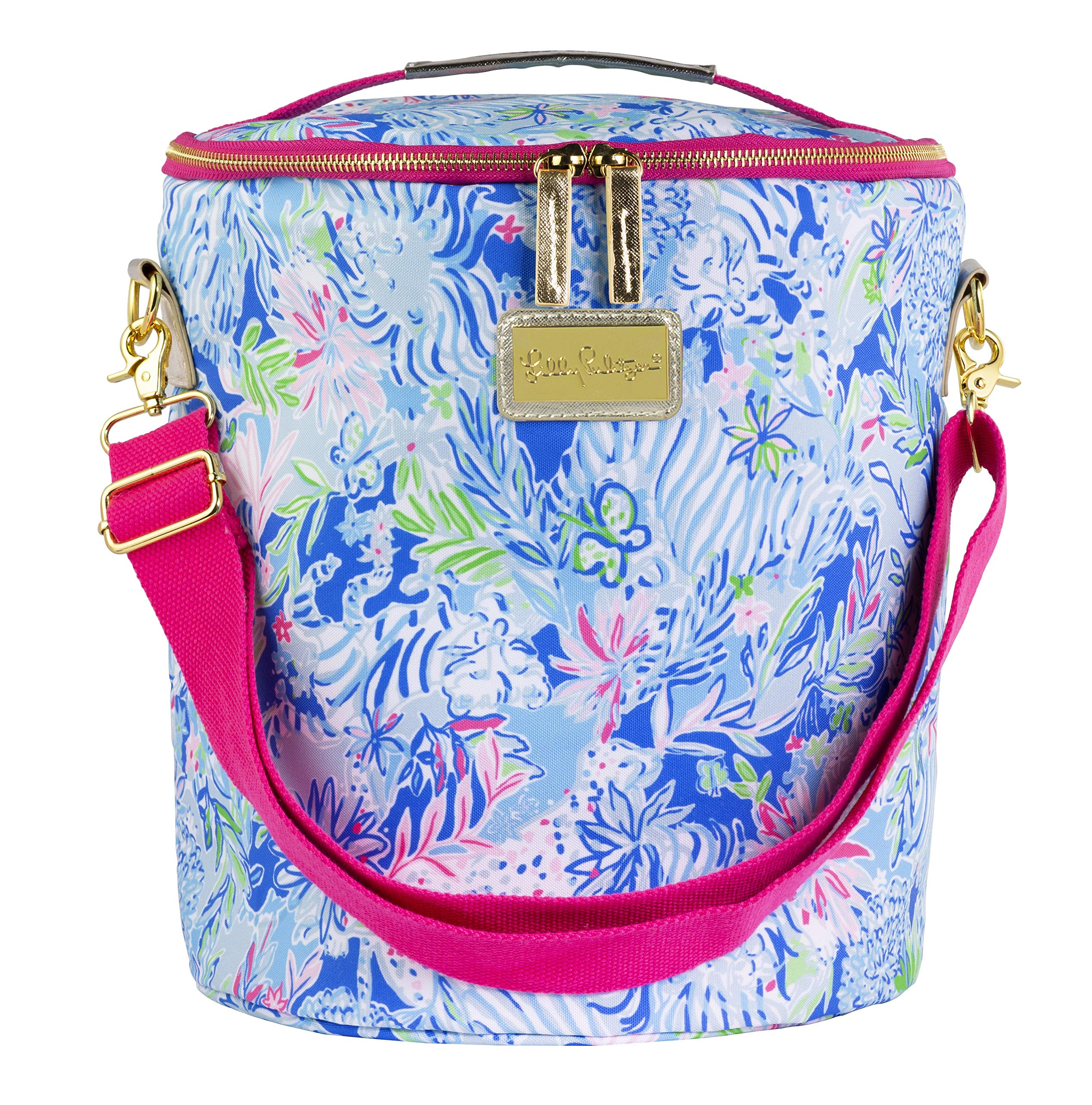 Lilly Pulitzer Insulated Beach Cooler with Adjustable Strap, Lion Around