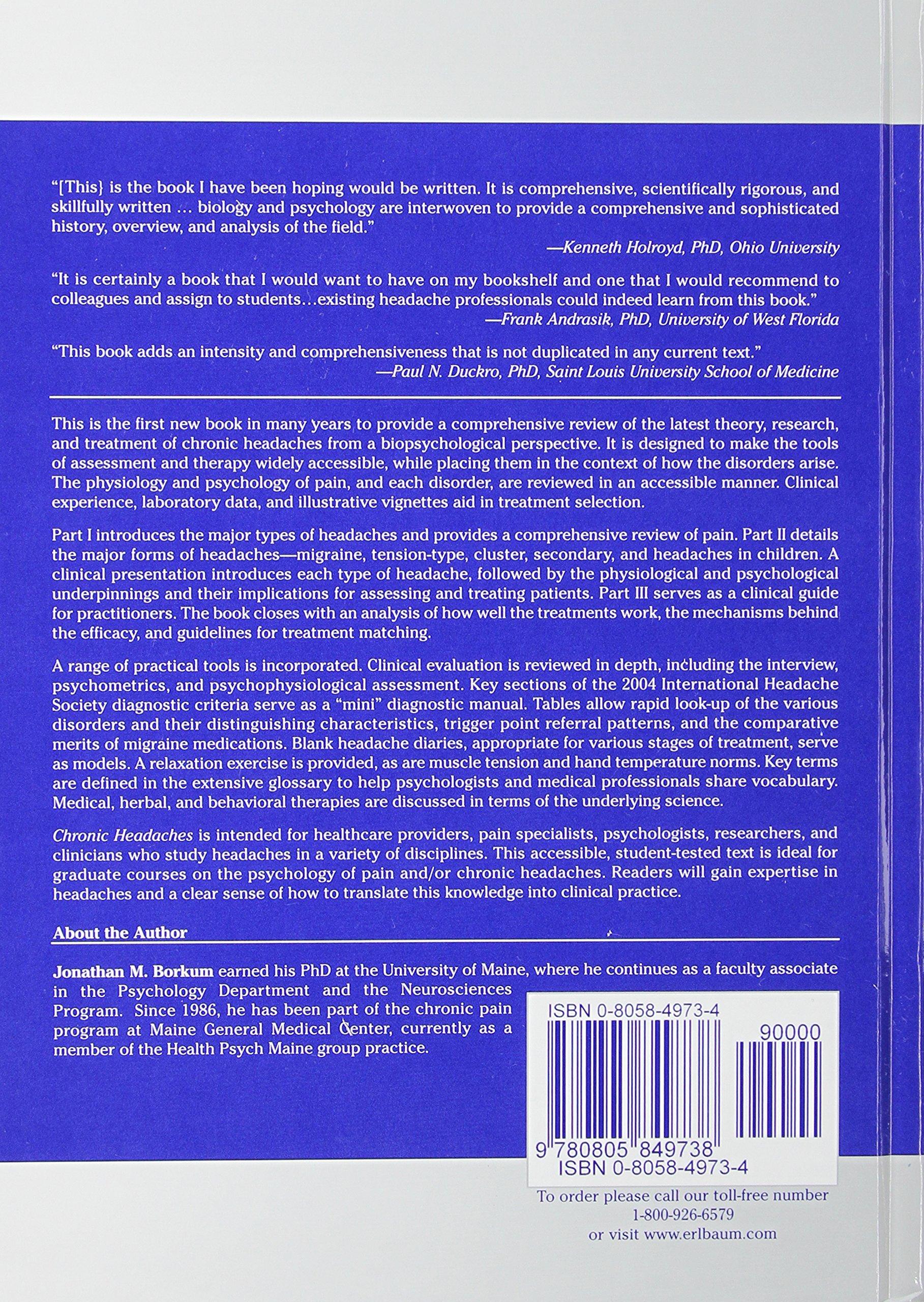 Chronic Headaches: Biology, Psychology, and Behavioral Treatment