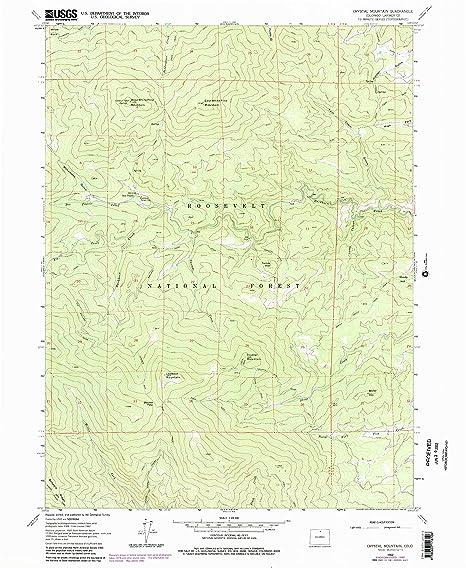 Crystal Colorado Map.Amazon Com Yellowmaps Crystal Mountain Co Topo Map 1 24000 Scale