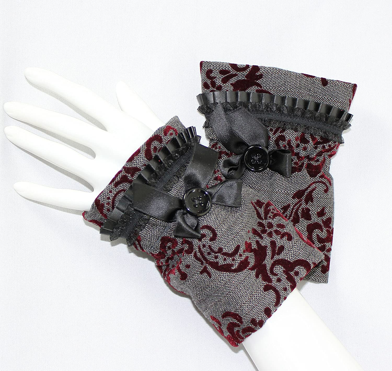 Nstyle Fashion Pulswärmer Damen grau, bordeaux rot mit Fleece gefüttert