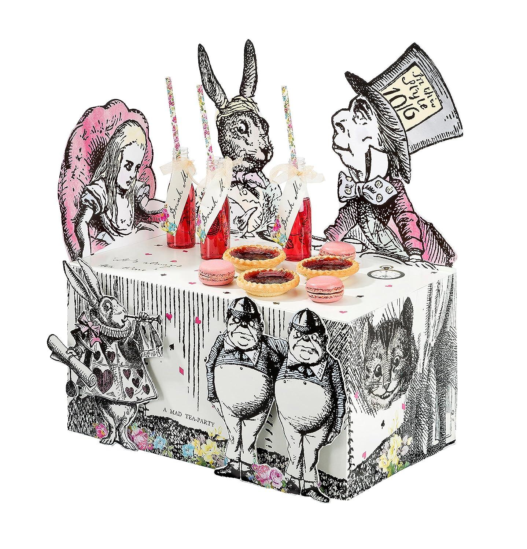 Talking Tables Truly Alice in Wonderland Décoration Centrale pour Buffet, Goûter Festif, Mariage, et Fête d'Anniversaire, Fête à Thème Alice au Pays des Merveilles et Fête d' Anniversaire TSALICE-BUFFETSTAND