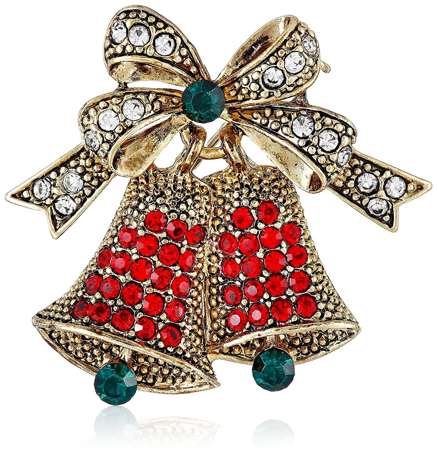 Amazon.com: BERRICLE Gold Plated Base Metal Bell Fashion Brooch ...