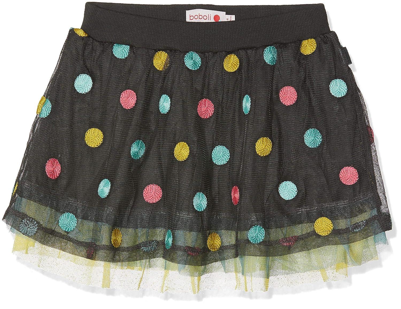 de6330f0b boboli Girl's Falda tul de niña Skirt, Multicolour (Topo Multicolor ...
