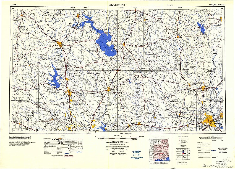 Map Of Beaumont Texas.Amazon Com Yellowmaps Beaumont Tx Topo Map 1 250000 Scale 1 X 2