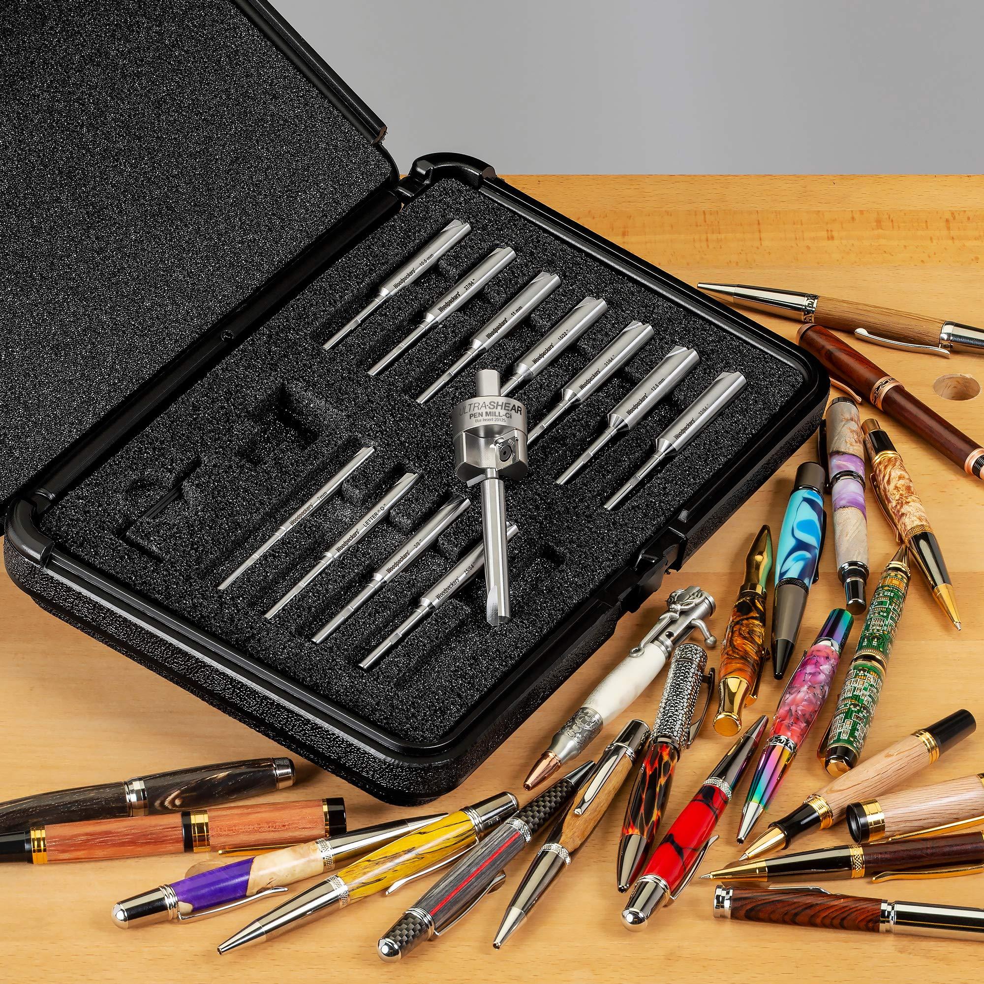 Ultra-Shear Pen Mill Ci 13-piece Set by Woodpeckers