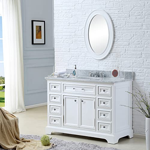 Water Creation Derby 48WBF 48-Inch Solid Single Sink Bathroom Vanity