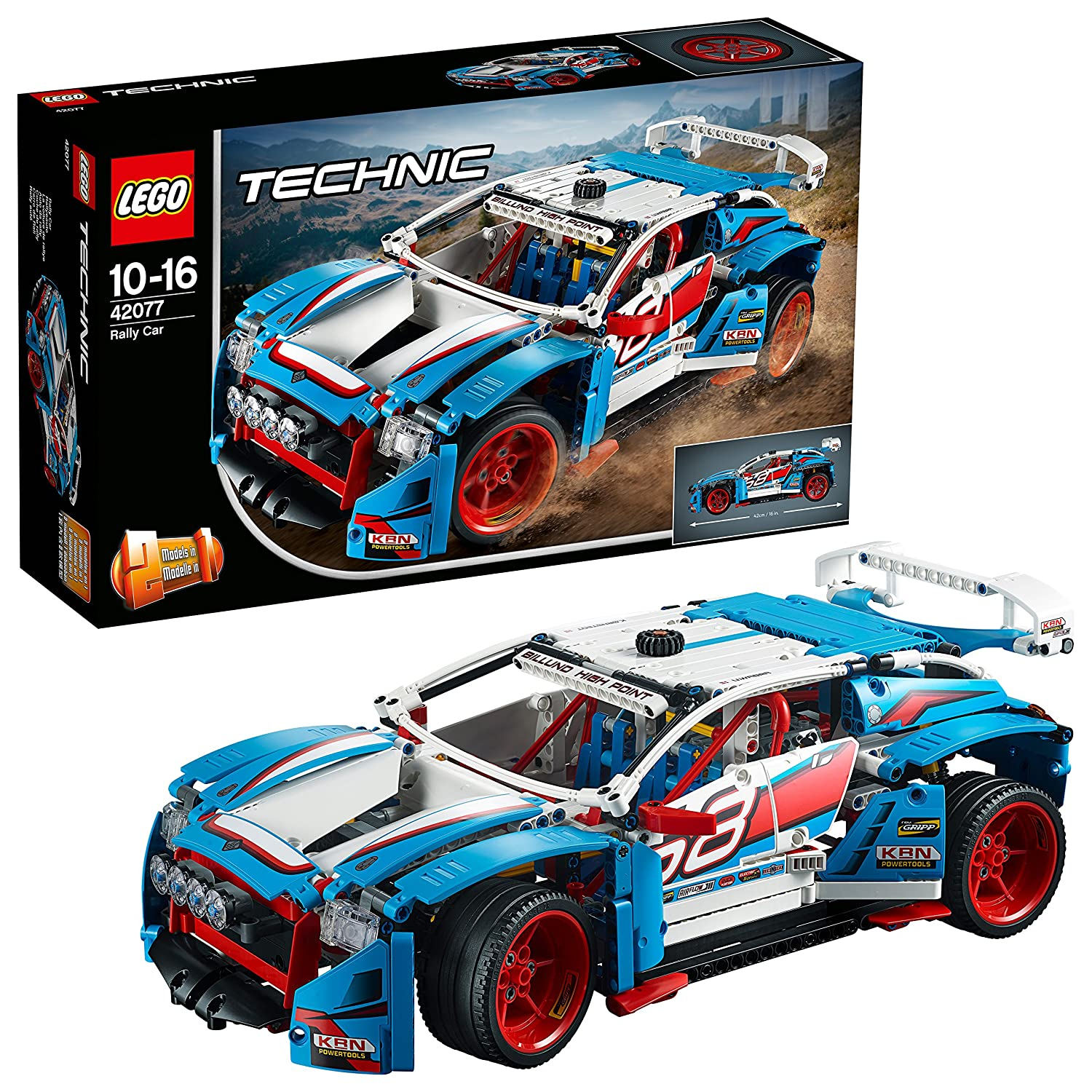 LEGO 42077 Technic Rally Car, 2-in-1 Buggy Model, Power Functions ...