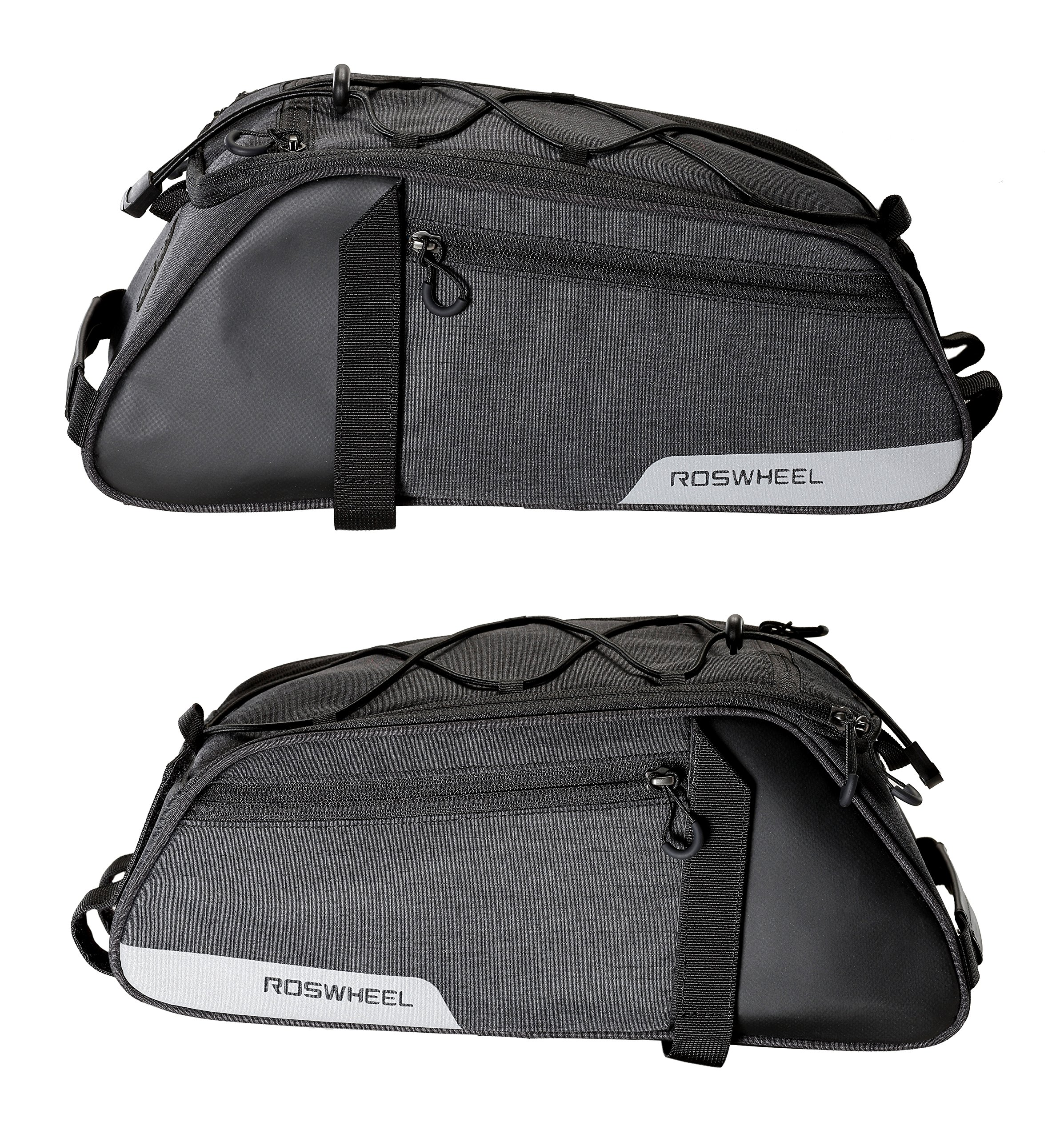 Roswheel Essentials Series 141466 Bike Trunk Bag Bicycle Rear Rack Pack Cycling Accessories Pannier, 8L Capacity by Roswheel (Image #3)