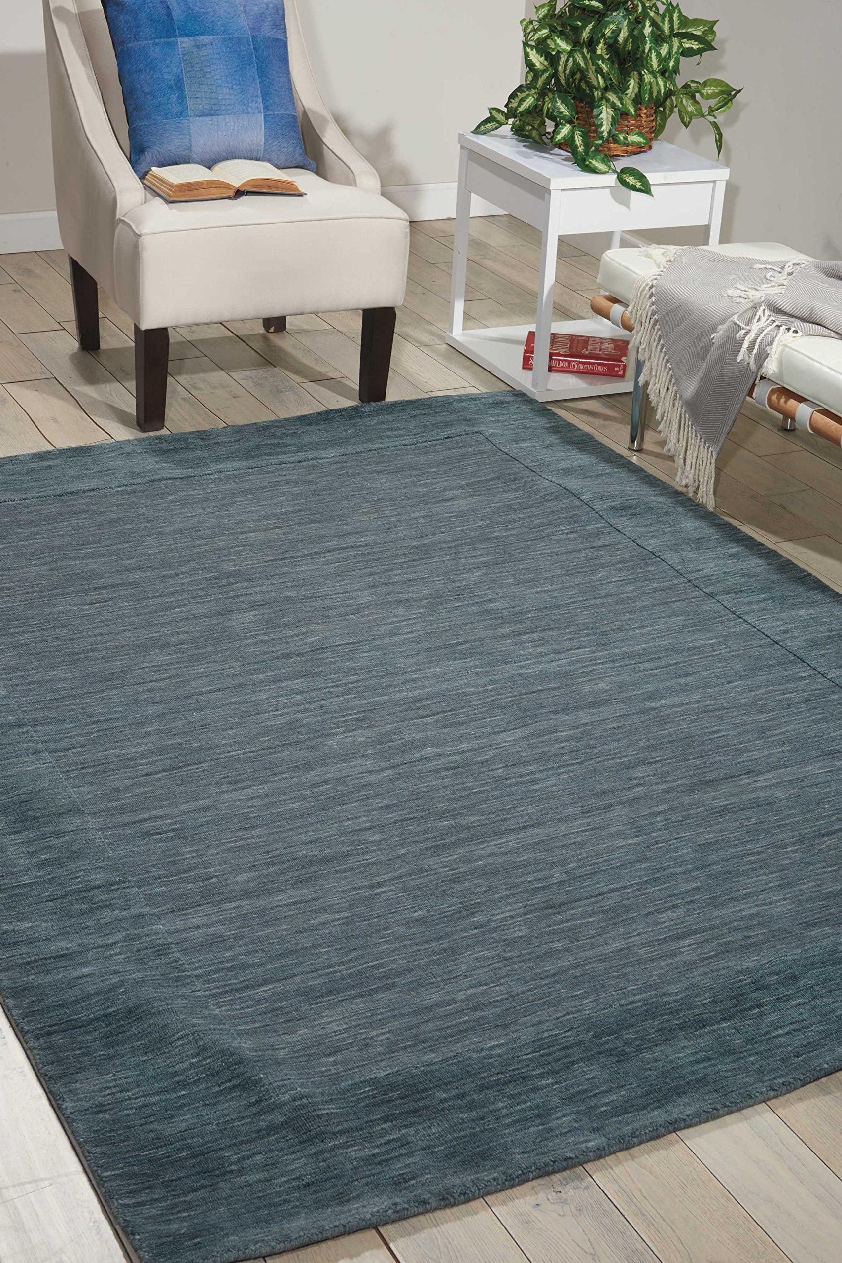 Nourison Bbl1 Ripple (RIP01) Spa Rectangle Area Rug, 3-Feet 6-Inches by 5-Feet 6-Inches (3'6'' x 5'6'')