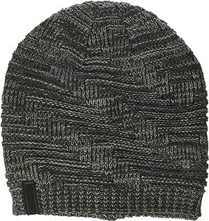 33a1ada367779 Calvin Klein Men s Jacquard Embossed Logo Reversible Beanie ...