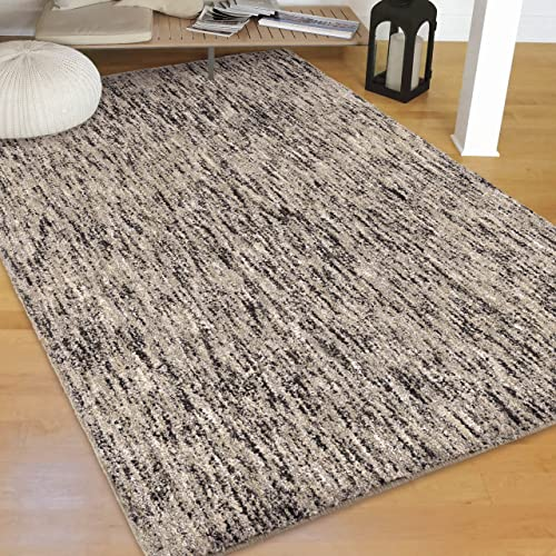 Orian Rugs Super Shag Collection 392241 Multi-Solid Area Rug, 9 x 13 , Silver