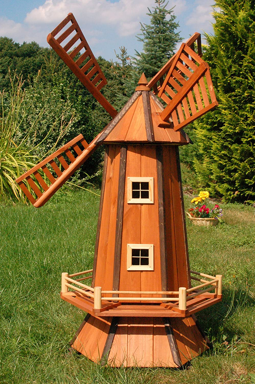 Moulin decoratif exterieur idee with moulin decoratif - Plan moulin a vent en bois pour jardin ...