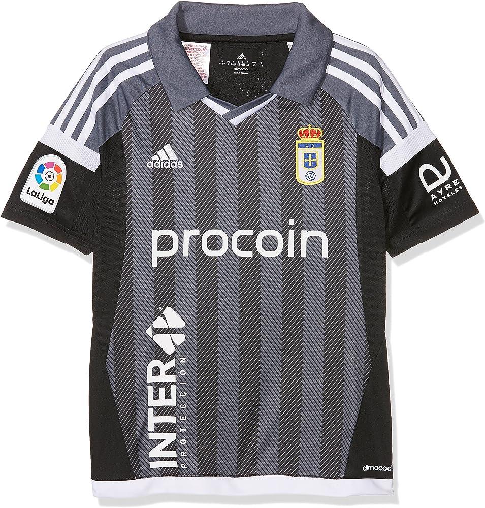adidas Moro Camiseta Real Oviedo Fc, Niños, Negro (Negro / Plomo ...