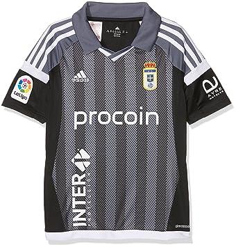 adidas Moro Camiseta Real Oviedo Fc, Niños, Negro (Negro / Plomo), 140: Amazon.es: Deportes y aire libre