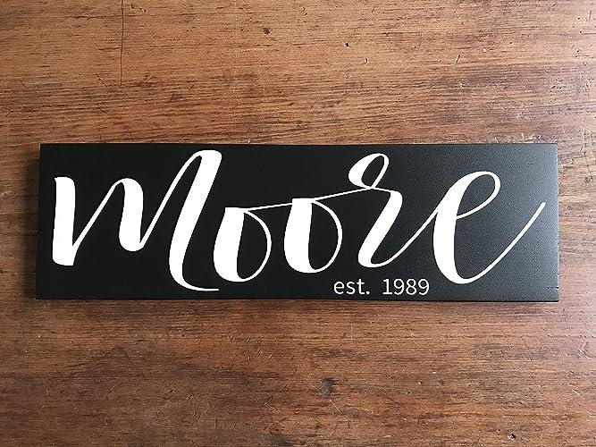 bd7902152ba8 Amazon.com  Established Family Signs Last Name Signs For Home Custom  Established Sign Personalized Wooden Name Sign Custom Name Sign  Handmade