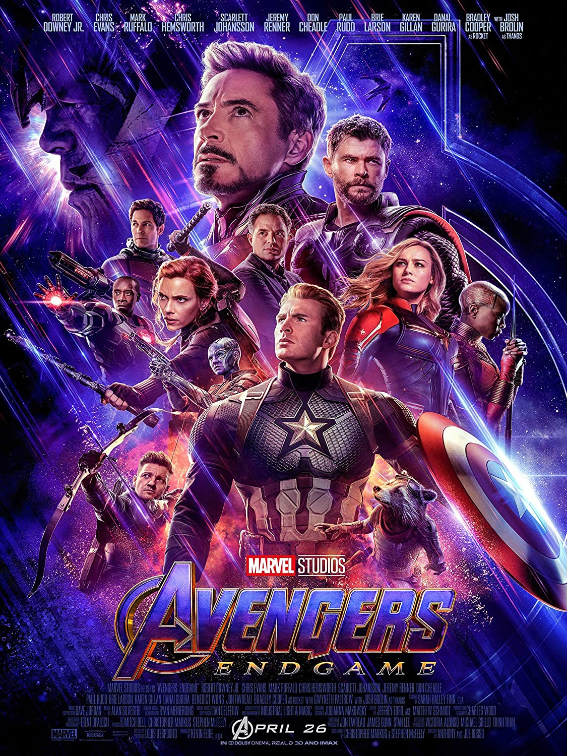 Avengers Endgame 2019 End Game Movie Poster Standard Size 18×24 inches