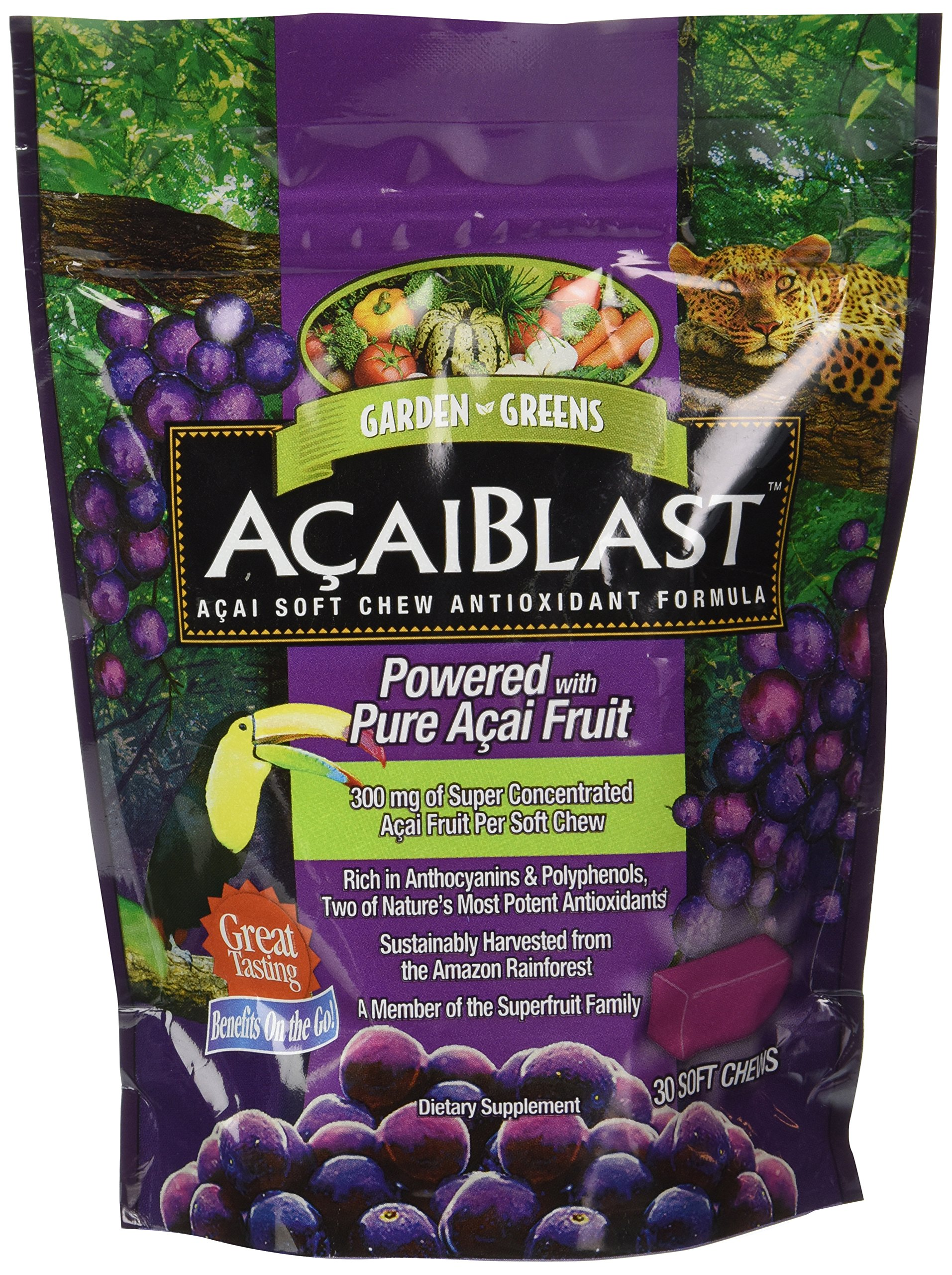 Garden Greens Acaiblast Soft Chews, 300 Mg, 30 Count