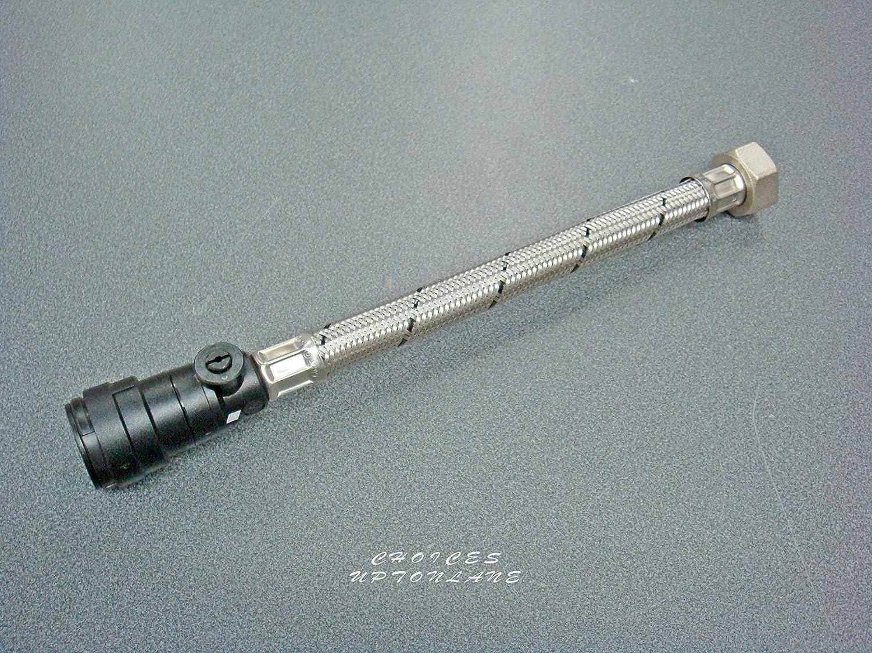"""2 x Hep2O 300mm x 22mm x 3//4/"""" flexible bath tap connectors push fit"""