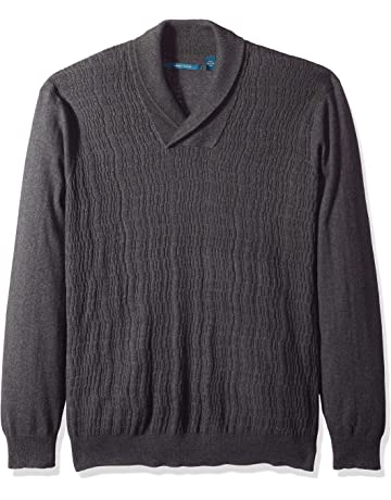 999aceb1400 Perry Ellis Men s Big and Tall Cable Knit Shawl Collar Sweater