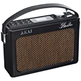 Akai A60016N 5 W DAB Retro Radio with Crystal Clear PMPO Speakers - Black