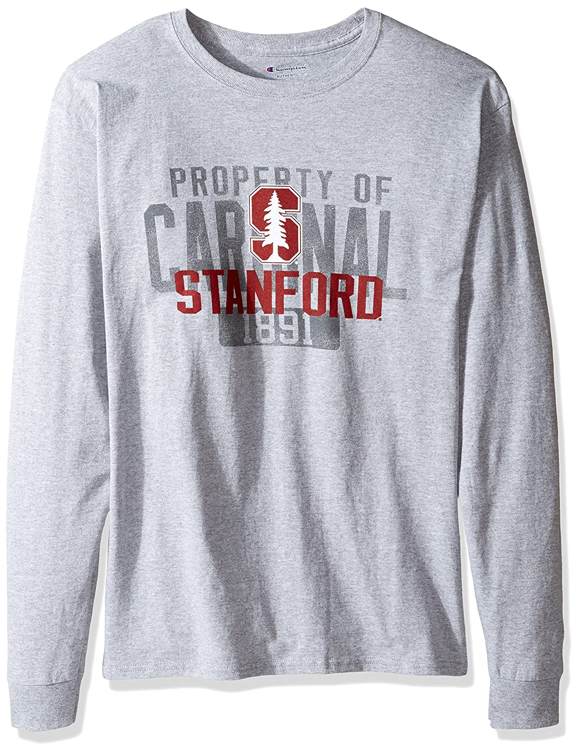 NCAA Stanford Cardinal Men's Champ Long Sleeve Tee 2 Small Oxford