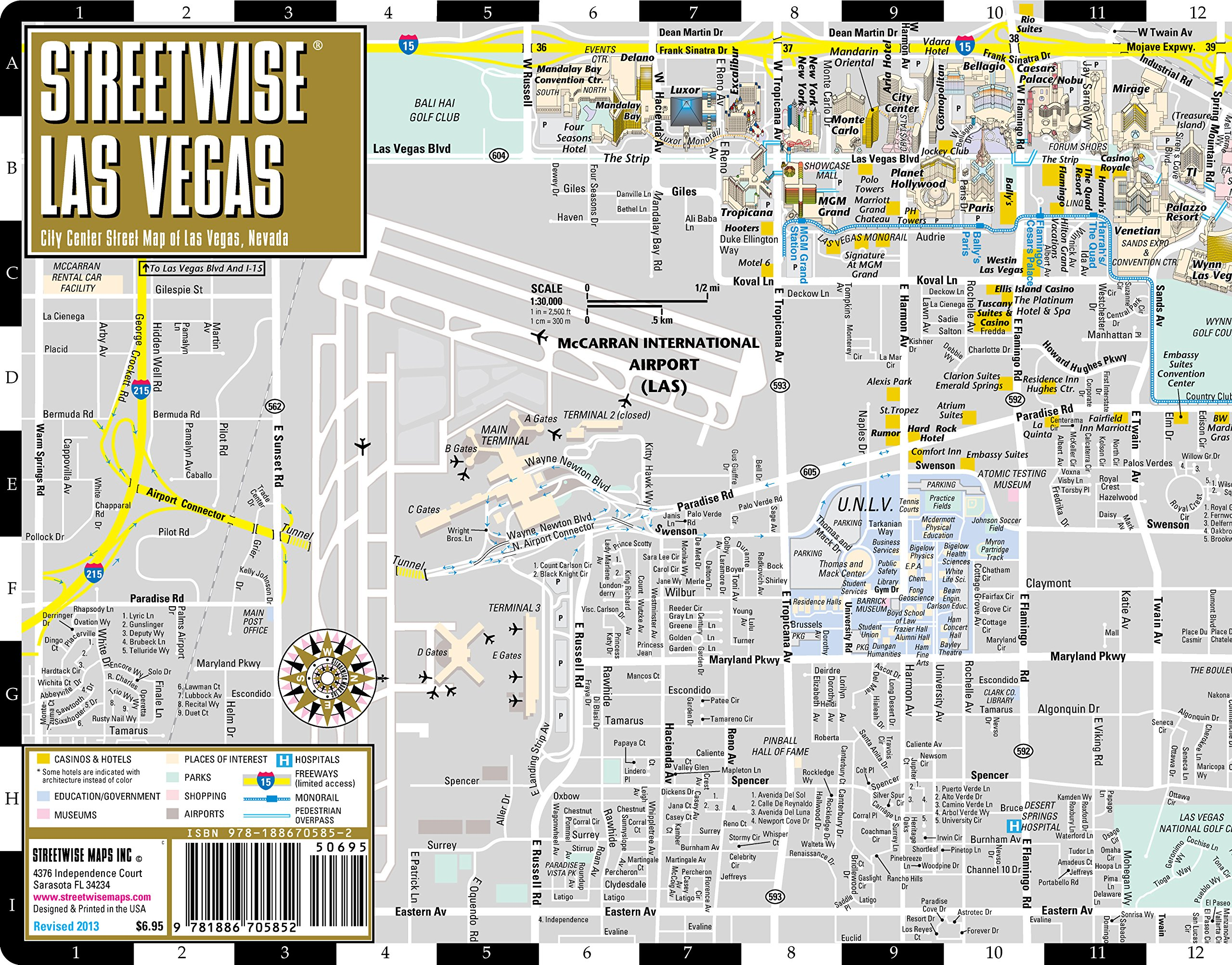 Streetwise Las Vegas Map - Laminated City Center Street Map of Las Vegas,  Nevada: Streetwise Maps: 9781886705852: Amazon.com: Books