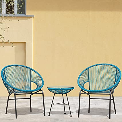 Brilliant Sarcelles Woven Wicker Patio Chairs By Corvus Set Of 2 Gmtry Best Dining Table And Chair Ideas Images Gmtryco