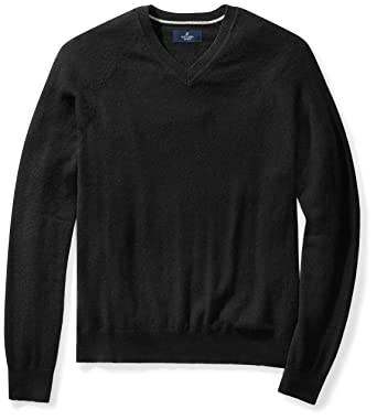 a0727b09 Amazon.com: Amazon Brand - BUTTONED DOWN Men's Cashmere V-Neck ...