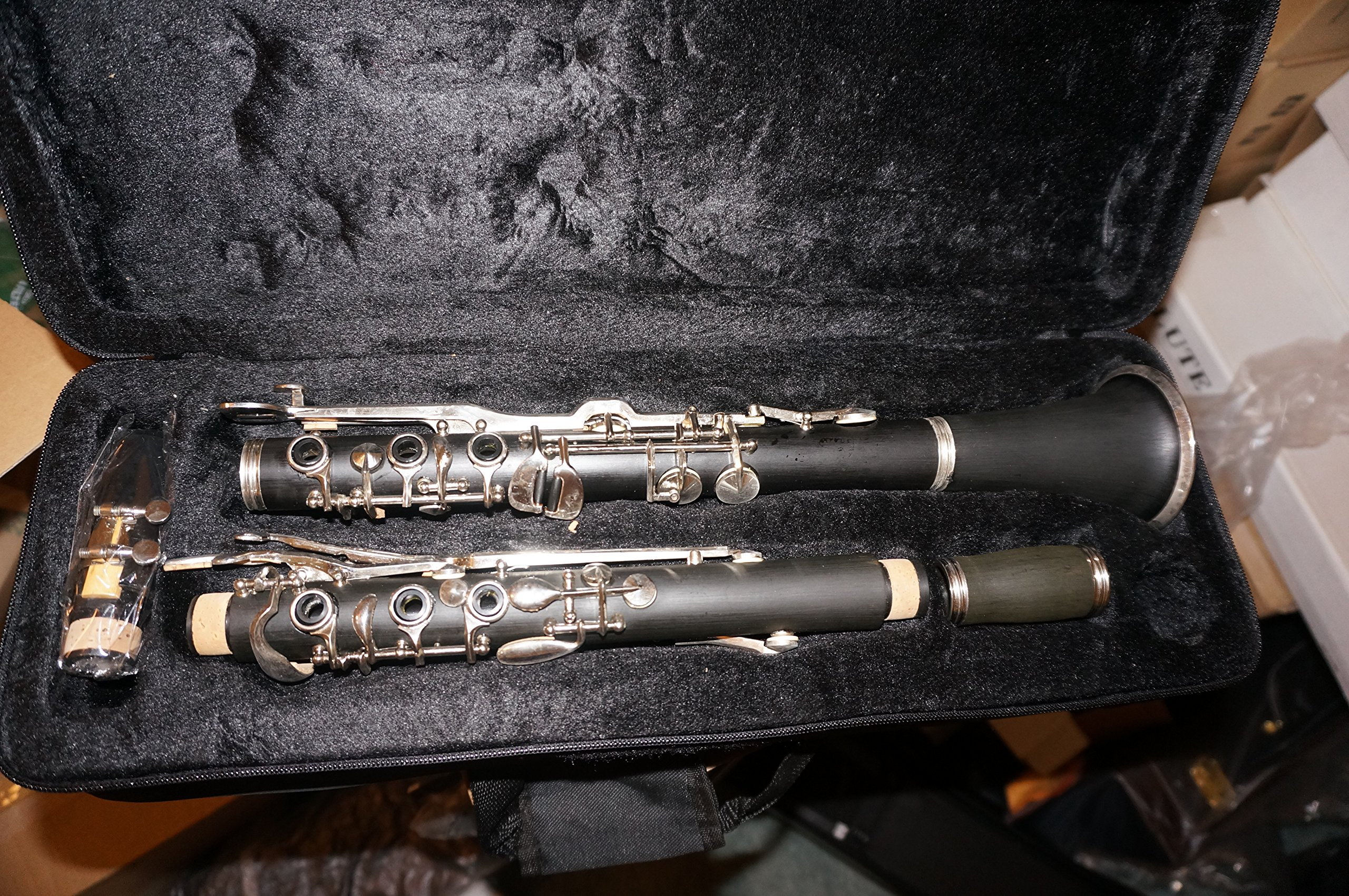 G key Clarinet with case and mouthpiece,