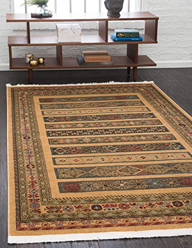 Unique Loom Fars Collection Tribal Modern Casual Tan Area Rug 9' 0 x 12' 0