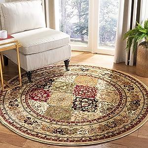 Safavieh Lyndhurst Collection LNH221C Traditional Area Rug, 8' Round, Multi/Beige